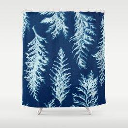 Botanical Pattern 1 (blue) Shower Curtain