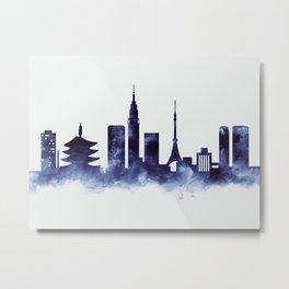 Tokyo Skyline Metal Print