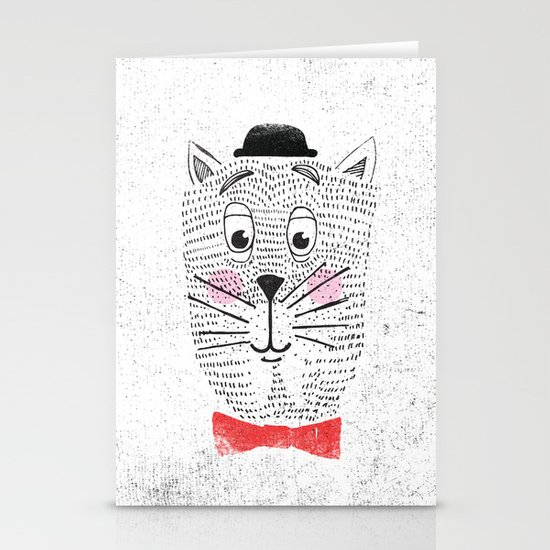 CAT IN A BOWTIE Stationery Cards