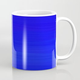 Solid Cobalt Blue - Brush Texture Coffee Mug