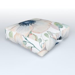 Summer Flowers White #society6 #buyart Outdoor Floor Cushion