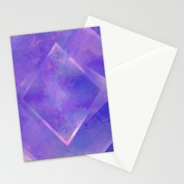 Violet Watercolour Kaleidoscope Stationery Cards