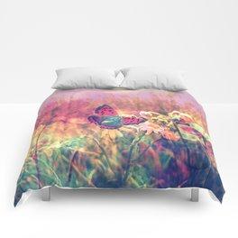 Butterfly in a Wonderworld Comforters