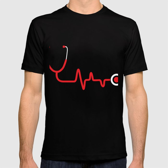 3f5ab608f17df Nurse Gift Heartbeat Registered Nurse RN Gifts National Nurses Day T-shirt