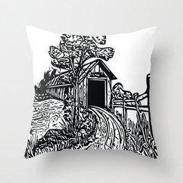 Covered Bridge Throw Pillow