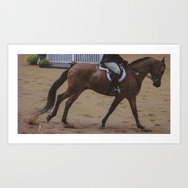 Cantering Bay Horse Art Print