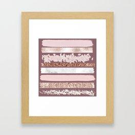 Girly Pink Purple Glitter Rose Gold Brushstrokes Framed Art Print