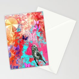 THE NIGHTINGALE SINGS TO THE MOON Stationery Cards