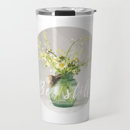 Spring bouquet with a snail - analog floral photography Travel Mug