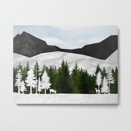Forest Scene Metal Print