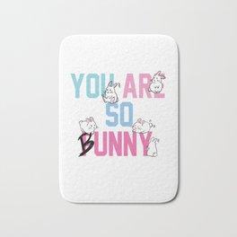 You are so bunny funny rabbit animal Bath Mat
