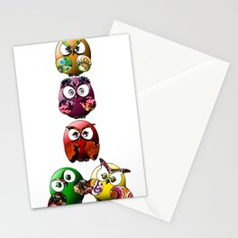 Owls Family Stationery Cards