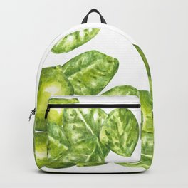 Watercolor Limes and Leaves Backpack