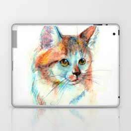 Bicolor cat portrait Laptop & iPad Skin
