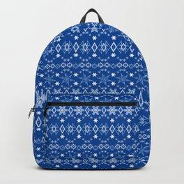 Blue Christmas ornament 2 Backpack