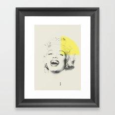 Marilyn Monroe   Esperantos   Dot-file #1 Framed Art Print