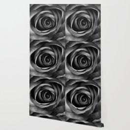 Black Rose Flower Floral Decorative Vintage Wallpaper