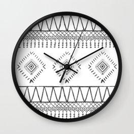 Gray Boho Aztec Wall Clock