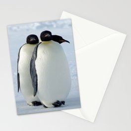 Emperor Penguins Huddled Stationery Cards
