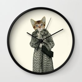 Kitten Dressed as Cat Wall Clock