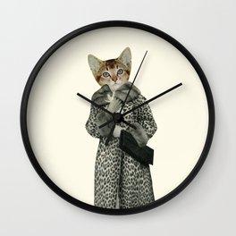 Kitten Dressed as Cat Wall Clock