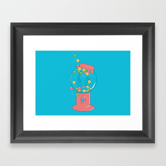Balloon, Gumball Framed Art Print