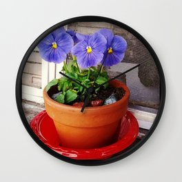 Potted Flowers Wall Clock