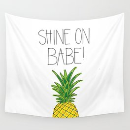 Pineapple Shine On Wall Tapestry