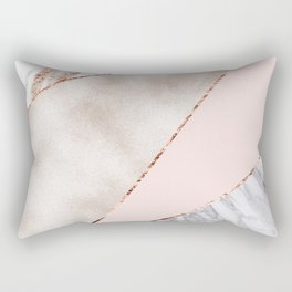 Spliced mixed rose gold marble Rectangular Pillow