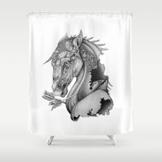 The King's Lost Knight Shower Curtain