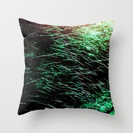 Abstract Water Spray Throw Pillow