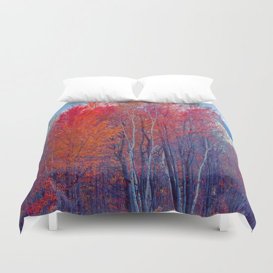 Where The Trail Ends Duvet Cover