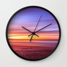 Colour sky beach Wall Clock