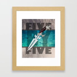 Five by Five Framed Art Print
