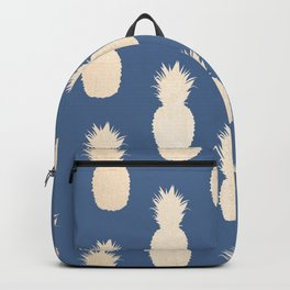 Gold Pineapples on Aegean Blue Backpack