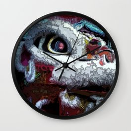 Abstract Chinese New Year Dragon Wall Clock