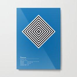 Hambourg geometric logo Metal Print