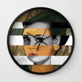 Frida Kahlo's Self Portrait with Monkey & Audrey Hepburn Wall Clock