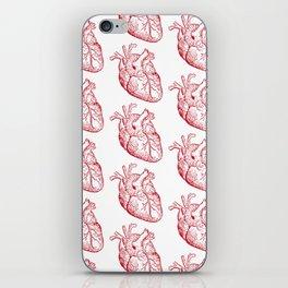 human heart pattern iPhone Skin