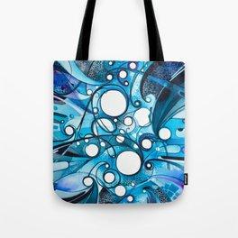 Medium Hadron Collider - Watercolor Painting Tote Bag