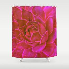 Suculenta Roja Shower Curtain