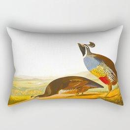 Scientific Bird Illustration Rectangular Pillow