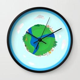 Nano Planet Wall Clock