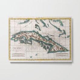 Vintage Map of Cuba (1780) Metal Print