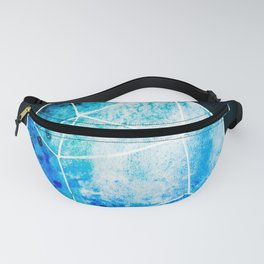 Watercolor Galaxy Crystal  Turquoise Fanny Pack
