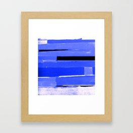 Indigo Monochromatic with Lavender Tones Framed Art Print