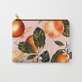 Citrus paradise. Tropical pattern with oranges Carry-All Pouch