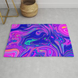 Colorful Oil Spill Pattern Rug