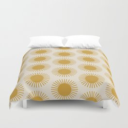 Golden Sun Pattern Duvet Cover