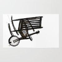 banjo Area & Throw Rugs featuring Grandma's Banjo by LeahOwen